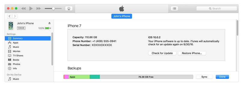 Upgrading iOS with iTunes