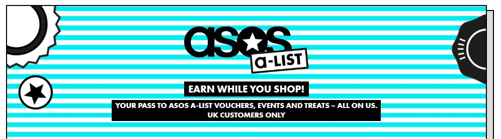 ASOS A-List earn while you shop