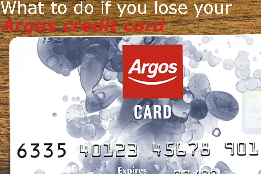lost argos credit card