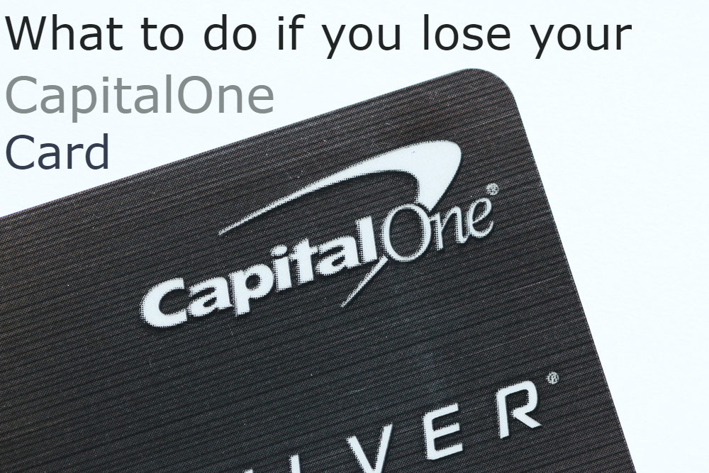 lost capital one card