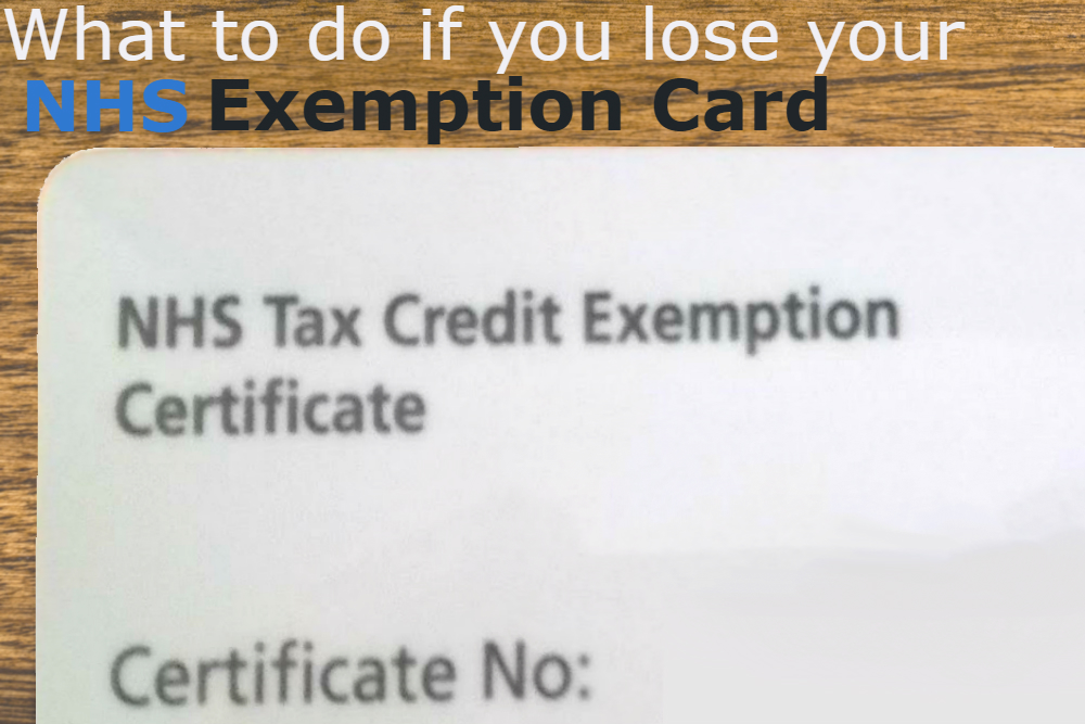 nhs exemption card replacement