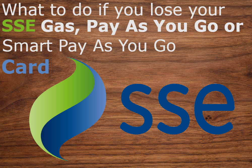 SSE Gas Card Replacement Guide