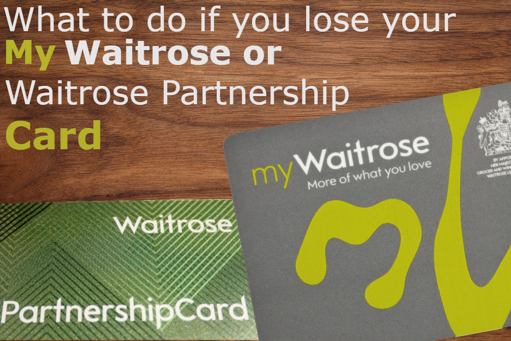 waitrose replacement card