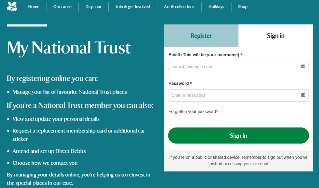 National Trust Replacement Card