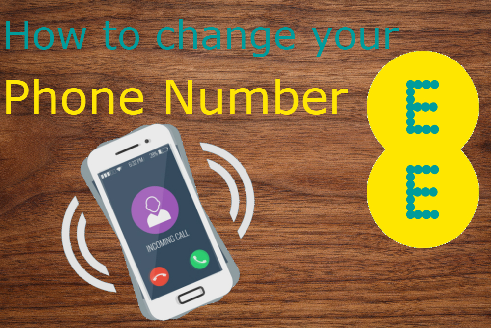 how to change your ee phone number