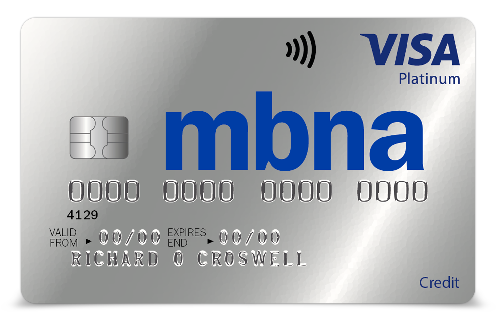 MBNA Lost Card