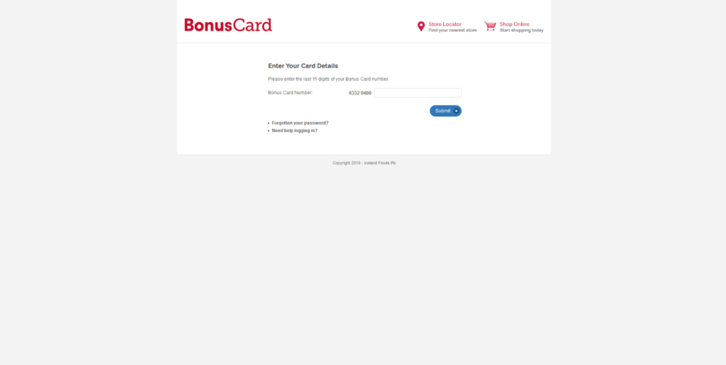 online application for iceland bonus card
